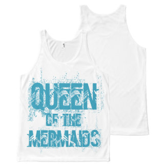 Queen of the Mermaids by Mostly Mermaid Design All-Over Print Tank Top