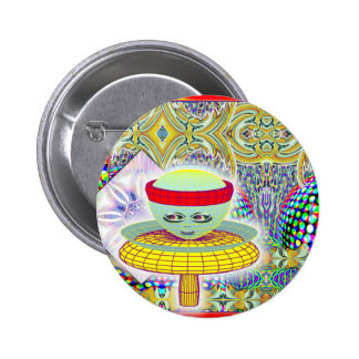 Queen of the Mushroom PeopleButton Pinback Button