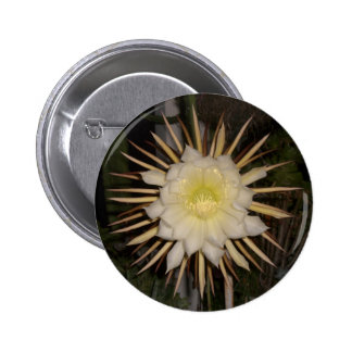 """Queen Of The Night"" Cactus Flower 2 Inch Round Button"