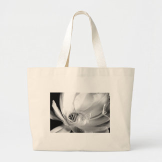 Queen of the Night close-up in Black and White Canvas Bags