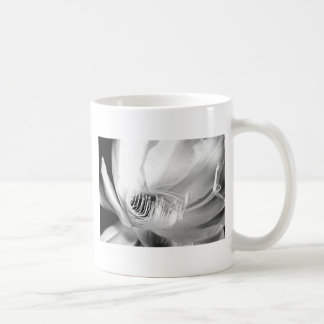Queen of the Night close-up in Black and White Coffee Mug