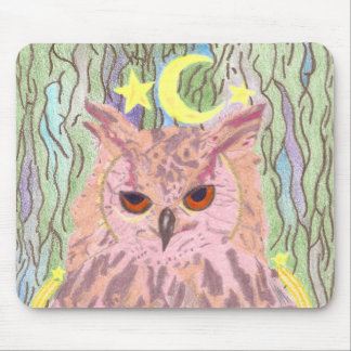 Queen of the Night Girly Owl Mousepad