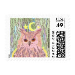 Queen of the Night Girly Owl Small Postage Stamps
