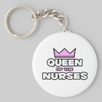 Queen of the Nurses Basic Round Button Keychain