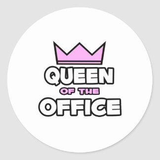 Queen of the Office Classic Round Sticker