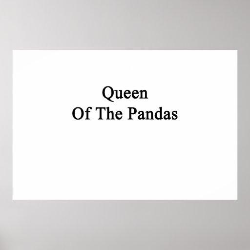 Queen Of The Pandas Poster