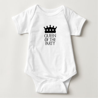 Queen of the Party, #Party Baby Bodysuit
