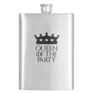 Queen of the Party, #Party Flask