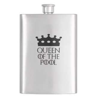 Queen of the Pool, #Pool Flask