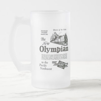 Queen of The Rails - New Olympian 1929 16 Oz Frosted Glass Beer Mug