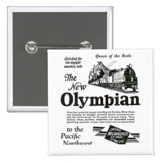Queen of The Rails - New Olympian 1929 2 Inch Square Button