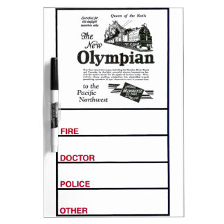 Queen of The Rails - New Olympian 1929 Dry-Erase Board