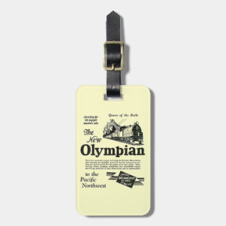Queen of The Rails - New Olympian 1929 Luggage Tag