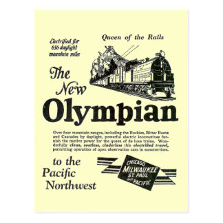 Queen of The Rails - New Olympian 1929 Postcard