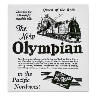 Queen of The Rails - New Olympian 1929 Poster