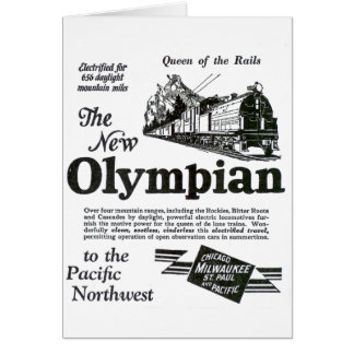 Queen of The Rails - New Olympian 1929 Stationery Note Card