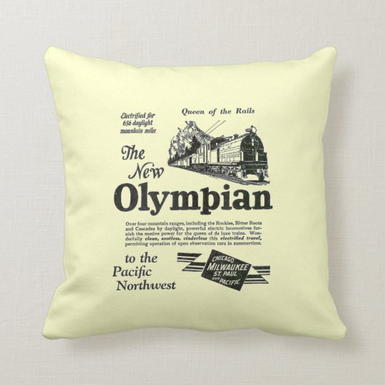 Queen of The Rails - New Olympian 1929 Throw Pillow