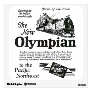 Queen of The Rails; New Olympian 1929 Wall Decal