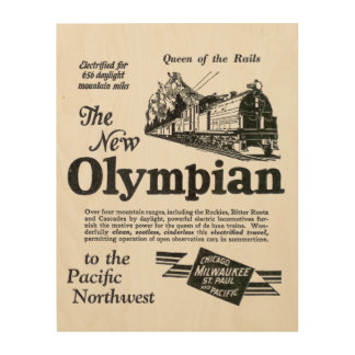 Queen of The Rails; New Olympian 1929 Wood Wall Art