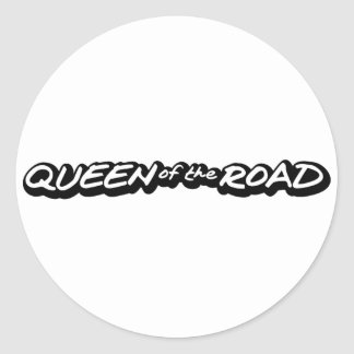 Queen of the Road Classic Round Sticker