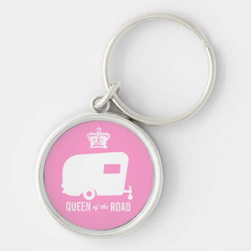 Queen of the Road- Vintage RV Camping Keychain