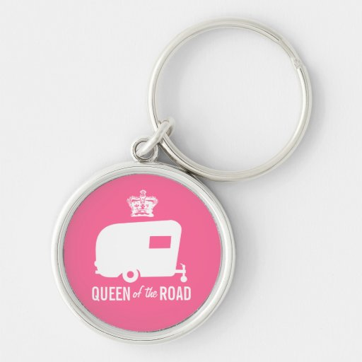 Queen of the Road - Vintage RV Camping Keychain