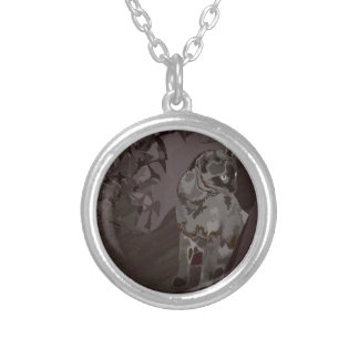 Queen of the Rural Jungle Round Pendant Necklace