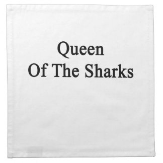 Queen Of The Sharks Cloth Napkin