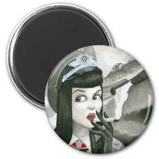"""Queen of the Skies"" 2 Inch Round Magnet"