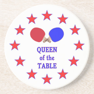 Queen of the Table Ping Pong Drink Coaster