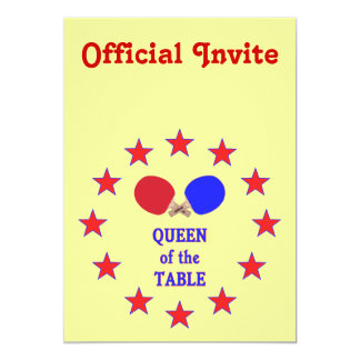 Queen of the Table Ping Pong Custom Invites