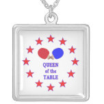 Queen of the Table Ping Pong Necklaces