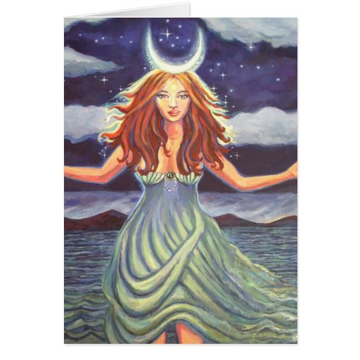 Queen Of The Tides - Goddess Art Greeting Card