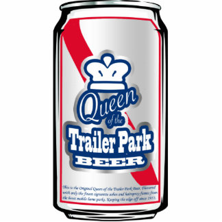Queen of the Trailer Park Beer Can Ornament