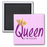Queen of the Trailerpark 2 Inch Square Magnet
