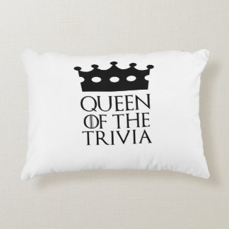 Queen of the Trivia, #Trivia Accent Pillow