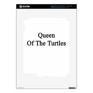 Queen Of The Turtles Decals For iPad 3