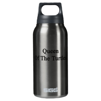 Queen Of The Turtles Insulated Water Bottle