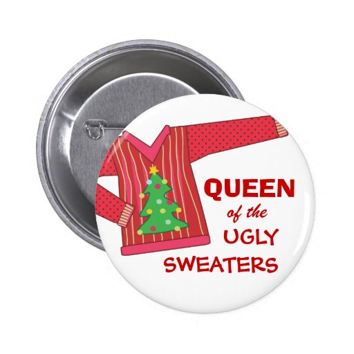 Queen of the Ugly Sweaters Holiday Contest Button