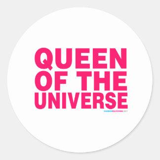 Queen Of The Universe Round Sticker