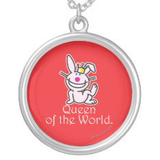Queen Of The World Silver Plated Necklace at Zazzle