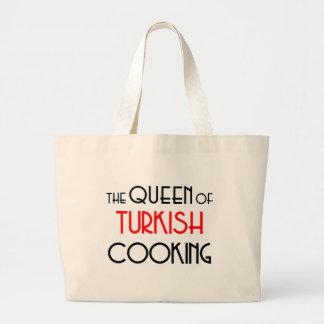 Queen of Turkish cooking Jumbo Tote Bag