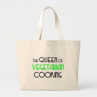 Queen of Vegetarian cooking Jumbo Tote Bag