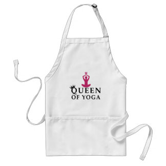 queen of yoga crown adult apron