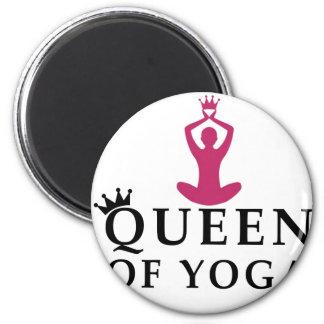 queen of yoga crown magnet