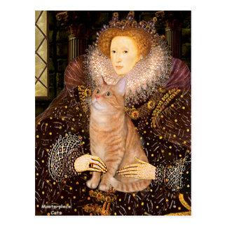 Queen - Orange Tabby cat 46 Postcard