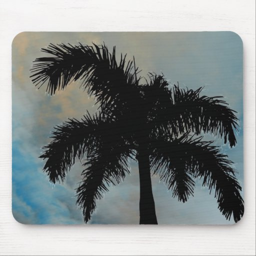 Queen Palm Silloutte From Florida Mouse Pad
