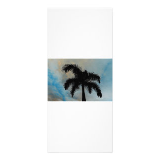 Queen Palm Silloutte From Florida Rack Card Design