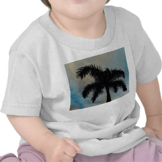 Queen Palm Silloutte From Florida Tshirt