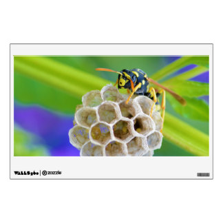 Queen Paper Wasp Tending to Her Nest Wall Decal